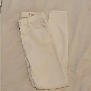 Gap white skinny jeans